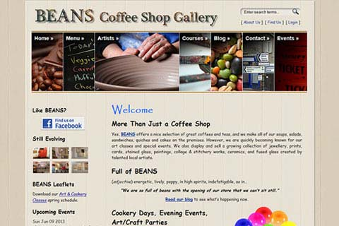 BEANS Coffee Shop Gallery in Bolsover, UK